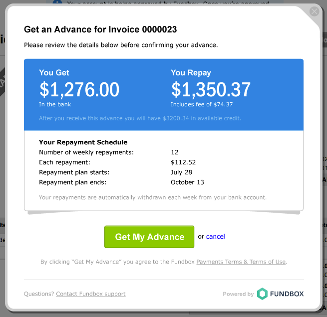 How To Draw Funds In FreshBooks Classic Fundbox Help - Freshbooks invoice pdf
